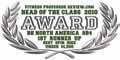 """""""Fitness Professor - Head of Class 2010"""" díj a SB4 Spin Bike részére: A legjobb Spin Bike 1500 $ alatt."""