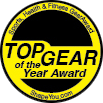"Aranyérem a ""2010 Top Gear of the Year Award""-on."